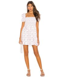 LPA White Violet Dress
