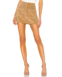 NSF Brown Penelope Patch Pocket Mini Skirt