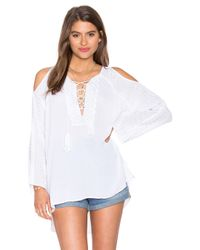 525 America   White Embroidered Tunic   Lyst