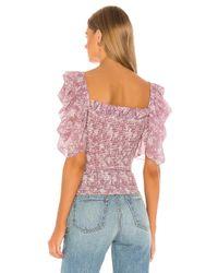 Blusa arina Caroline Constas de color Purple