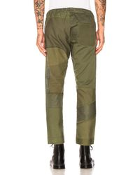 Children of the discordance Green Vintage Patch Easy Pants for men