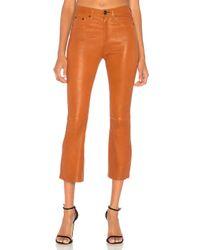 Pantalones Cuero Hana Rag & Bone de color Orange