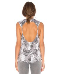 Onzie - Gray Twist Back Tank - Lyst