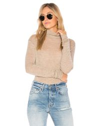 Vince - Natural Cowl Long Sleeve Tee - Lyst