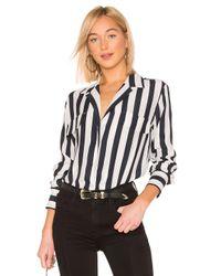 FRAME Black Bluse mit Taschen