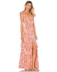Ále By Alessandra Pink Lina Maxi Dress