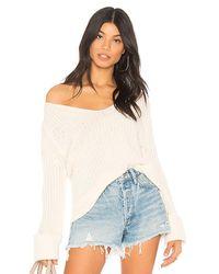 27 Miles Malibu - Multicolor Kerra Bell Sleeve Sweater In Cream - Lyst