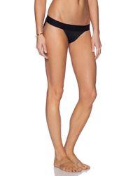 Norma Kamali Black Kamalikulture Banded Bikini Bottoms