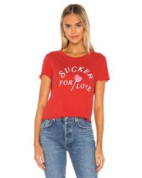 Wildfox Red Sucker For Love Sydney Tee