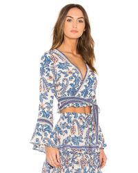 Spell & The Gypsy Collective Blue Etienne Wrap Top