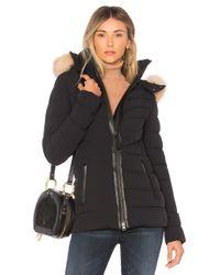 Mackage Black Patti Fox Fur Jacket