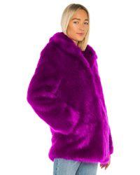 RTA Purple Kate Faux Fur Jacket