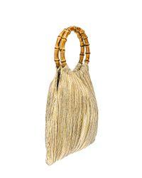 Loeffler Randall Metallic Mattie Bamboo Handle Pouch