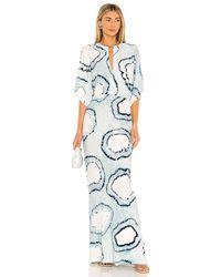 Norma Kamali Blue Obie Gown