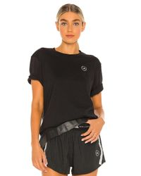 Adidas By Stella McCartney Cotton Tシャツ Black