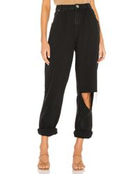 One Teaspoon Black Smiths High Waist Trouser Wide Leg