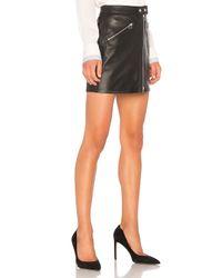 Rag & Bone Black Racer Skirt