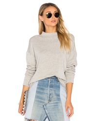 Velvet By Graham & Spencer | Gray Holly Mock Neck Pullover | Lyst