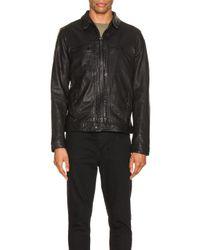 メンズ AllSaints Lark レザージャケット Black