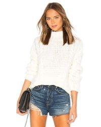 Lovers + Friends White Telluride Sweater