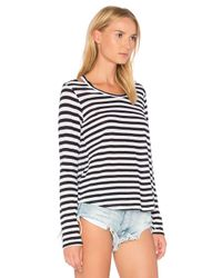 LNA - Black Stripe Bolero Long Sleeve Tee - Lyst