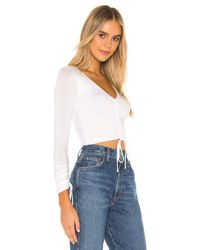 Lovers + Friends White Heather Top