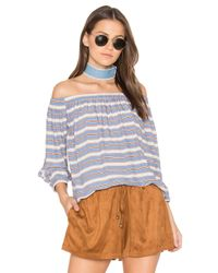 Bishop + Young Blue Lucia Top
