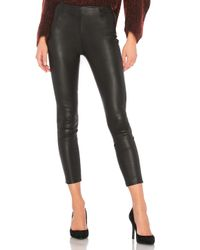 T By Alexander Wang Black Crop Leather Legging