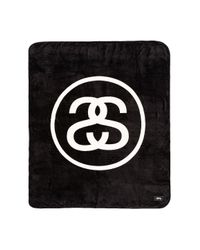 Stussy Black Ss Link Fleece Blanket for men