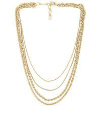 Amber Sceats Layered Chain ネックレス Metallic