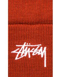 Stussy Red Stock Fa17 Cuff Beanie for men