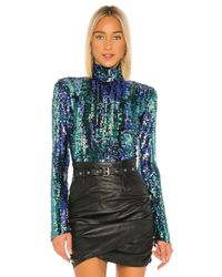 Alix NYC Blue Madison Bodysuit