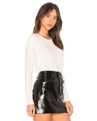 Michael Stars - Multicolor Ruffle Top In Ivory. - Lyst