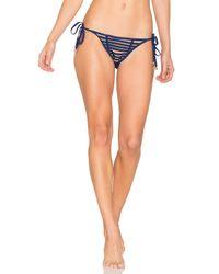 Beach Bunny - Blue Hard Summer Side Tie Bottom - Lyst