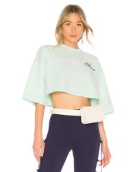 PUMA Multicolor Cropped Crew Neck T Shirt In Mint