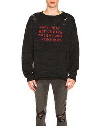 Ksubi Black Caring Sweater for men