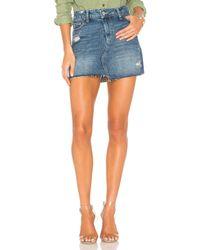 PAIGE Blue Afia Skirt