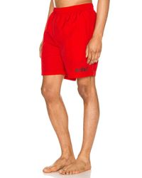Alife Nylon Shorts in Red für Herren