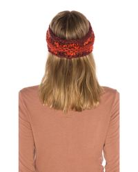 The North Face - Multicolor Nanny Knit Ear Band In Red. - Lyst