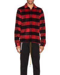 メンズ AllSaints Drytown ロングスリーブボタンアップシャツ Red