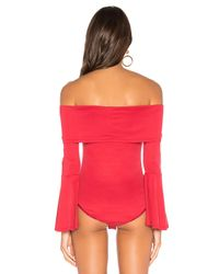 House of Harlow 1960 Red X Revolve Abby Bodysuit