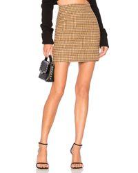 L'academie Brown The Lana Mini Skirt