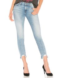 7 For All Mankind Blue Roxanne Ankle