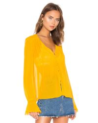 Nicholas - Yellow Georgette Blouse - Lyst