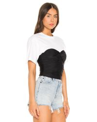 T By Alexander Wang Black Ruched Bodycon Top