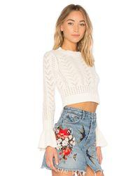 Tularosa White X Revolve Bedford Sweater