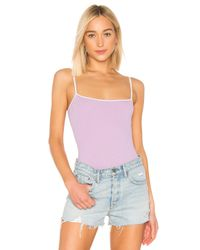 superdown Purple Laurise Cami Bodysuit
