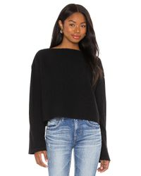 Moussy Black Boat Neck Knit Sweater