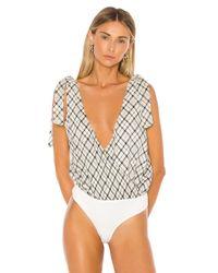Privacy Please White Blaire Bodysuit
