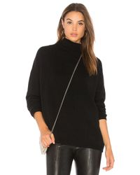 Autumn Cashmere - Black Laced Back Sweater - Lyst